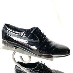 Mezlan Black Patent Leather Dress Shoes Size 13